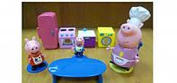 Игровой набор Peppa - КУХНЯ ПЕППЫ (кухонная мебель и техника, 3 фигурки)