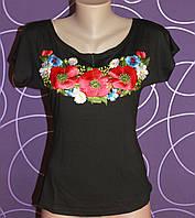 Женская вышиванка Маки, р 42-50