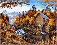 Картина по номерам на холсте Babylon Дом в лесу