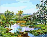 Картина по номерам на холсте Babylon Цветущий берег