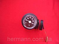 Термометр ф37мм 0-120С, капилляр-1000мм, 91312010