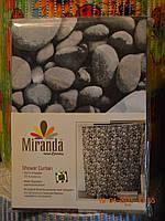 """Штора для ванны """"Миранда"""" цвет серые камни, производитель Турция"""