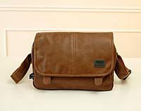 Стильная кожаная сумка. Мужской портфель. Практичная сумка. Офисная сумка. Бизнес сумка. Код: КСД11.