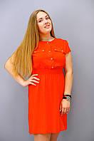 Рене. Платья больших размеров. Красный.(Р)., фото 1