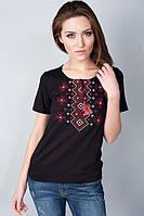 Стильная женская футболка вышиванка с орнаментом