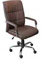 Кресло для руководителя Рио HB кожзам коричневый (Model-107HB Pu+Pvc Brown)