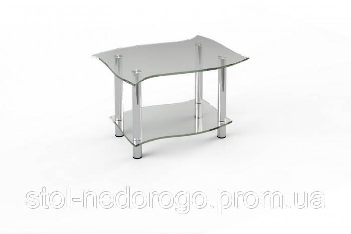 Стеклянный журнальный столик  от производителя