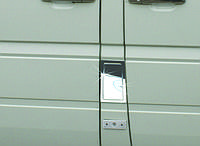 Накладка на лючок бака Volkswagen LT 1998+ нержавейка