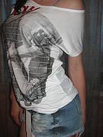 Дизайнерская стильная  футболка с принтом