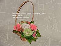 """Букет для учительницы из конфет""""мини цветочный рай""""№5"""