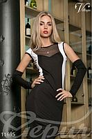 Женское вечернее платье в пол с рукавами в комплекте микродайвинг