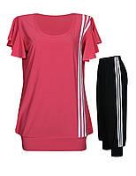Футболка-туника + капри с тремя полосками - летний женский костюм