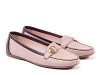 Розовые мокасины кожаные ETOR