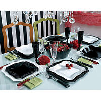 Сервиз  LUMINARC AUTHENTIC black&white 30 предм. стол E6199