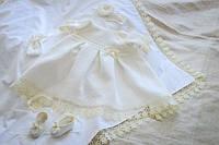 Тепленькое платье для крещения и на годик