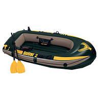 Надувная двухместная лодка Intex 68347 насос+весла ,Seahawk-2
