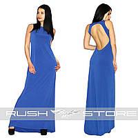 Вечернее платье в пол с вырезом на спине