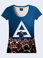 Женская 3D футболка 30 SECONDS TO MARS КОНЦЕРТ
