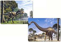 """Пазлы Castorland 2 в 1 """"Динозавры"""""""
