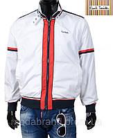 Стильная мужская куртка-ветровка Paul Smith-131 белая