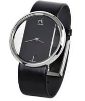 Качественные часы Calvin Klein. Кварцевые часы. Стильные часы. Интернет магазин часов. Браслет кожа. Код: КЧТ9