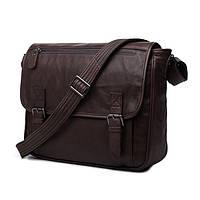 Кожаная мужская сумка. Офисной портфель. Кожаные сумки. Сумка на подарок. Код: КСД18.