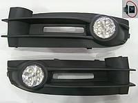 Штатные противотуманки на диодах Volkswagen Caddy 2004-2010 г.в.