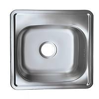 Мойка кухонная врезная 38*38 см Platinum полировка 0,6 мм глубина 16 см