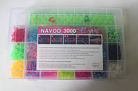 Набор для плетения браслетов из 3000 резиночек Loom Bands