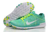 Nike Free TR 5 Flyknit салатовые / женские кроссовки / салатовые /  текстиль