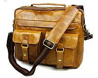 Мужская кожаная сумка. Модная сумка. Бизнес портфель. Сумка из кожи. Код: КСД21.