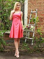 """Нежное летнее платье поплин """"Милашка"""" с расклешенной юбкой (2 цвета)"""