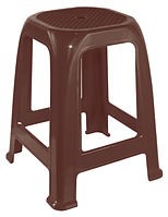 Пластиковый табурет для дачи Пиф темно-коричневый
