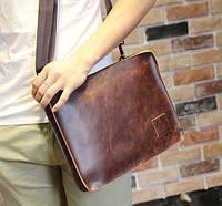 Модная кожаная сумка. Стильная сумка. Бизнес портфель. Офисная сумка. Код: КСД23.