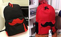 Рюкзак школьный, молодежный с усами.
