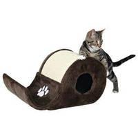 """4312  Когтеточка для кошки """"Elda"""" 48 х 27см, сизаль/плюш, коричневый"""