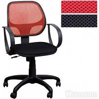 Кресло компьютерное Бит/АМФ-8 сиденье Сетка черная/спинка Сетка красная