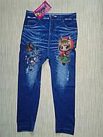 Лосины под джинс  мультяшки детские для девочек в ассортименте 2016