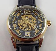 Часы скелетон наручные Слава Созвездие GK1018 черные механика автоподзавод