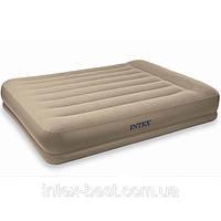 Односпальная надувная кровать Intex 67742 (102х203х38 см.) со встроенным электронасосом