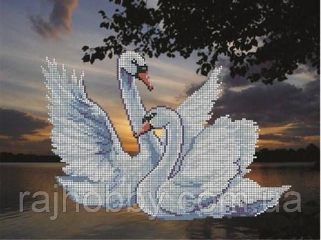 для вышивки бисером Лебеди