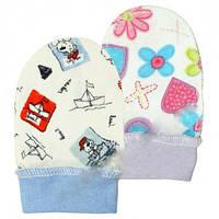 Детские рукавички на манжетах (царапки) (арт:18-39-1)