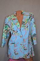 Женский джинсовый пиджак с цветочным принтом по низким ценам