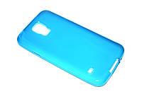 Глянцевый TPU чехол для Samsung Galaxy S5 голубой