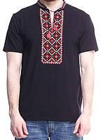 Вышитая мужская футболка в этническом стиле