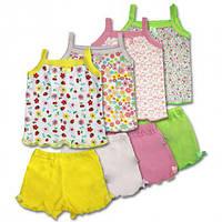 Детский летний комплект для девочки, на рост - 74, 116 (Комплект топ + шорты арт:18-56)