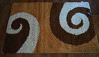 Коврики в ванную комнату Banyolin Shaggy,размер 150 х 100,цвет бежево\коричневая спираль,Производитель Турция.