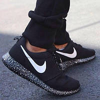Nike Roshe Run All Black Point / Роше ран черные в точку