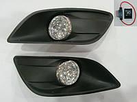 Штатные противотуманки на диодах Ford Focus 2008-2011 г.в.