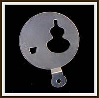 Трафарет маленький диаметр 7,4 см Гитара